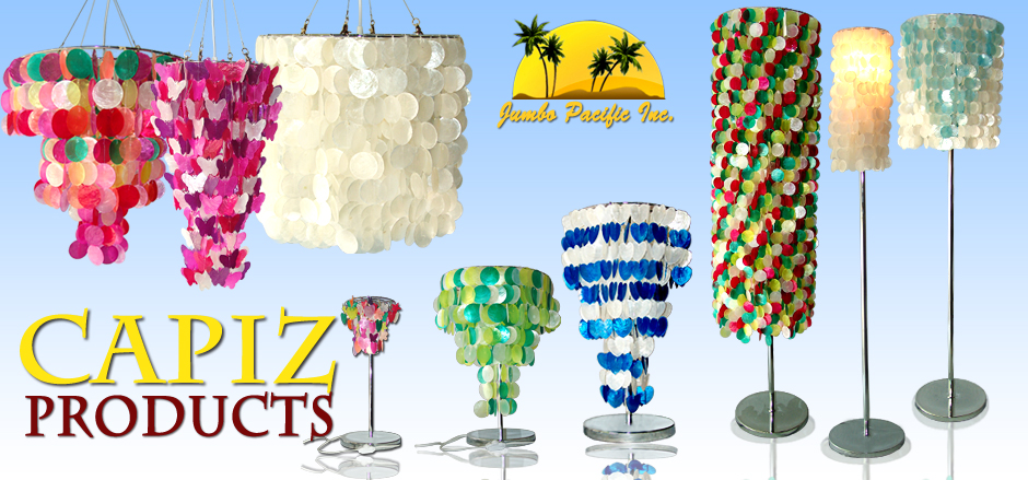 The Collection Of Philippine Capiz Product Like Capiz Lamp