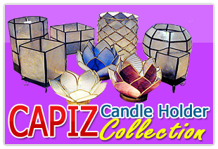 Jumbo Pacific Inc. Collection of Capiz Candle Holder that ligts up your night.